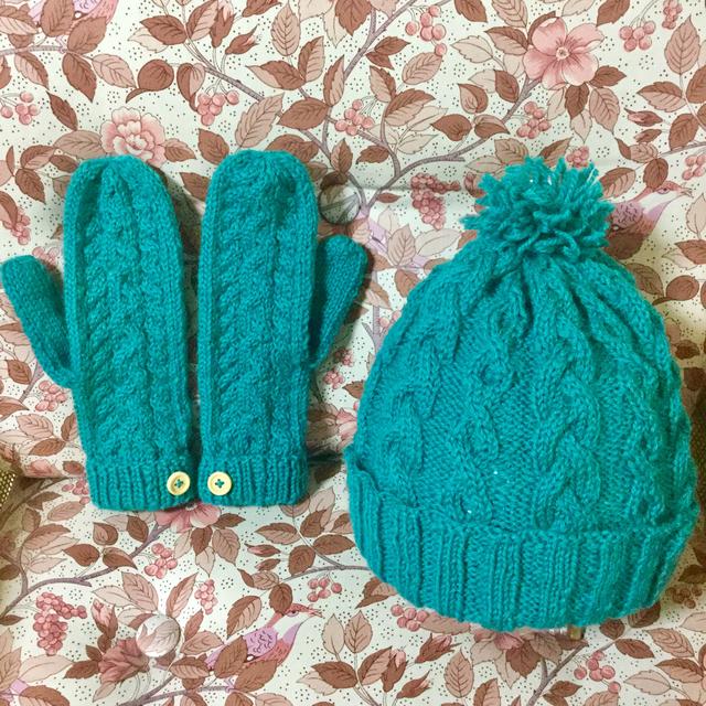 羊毛ミトン&帽子