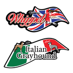 4-Whippets & 2-Italian Grayhound Original Stickers