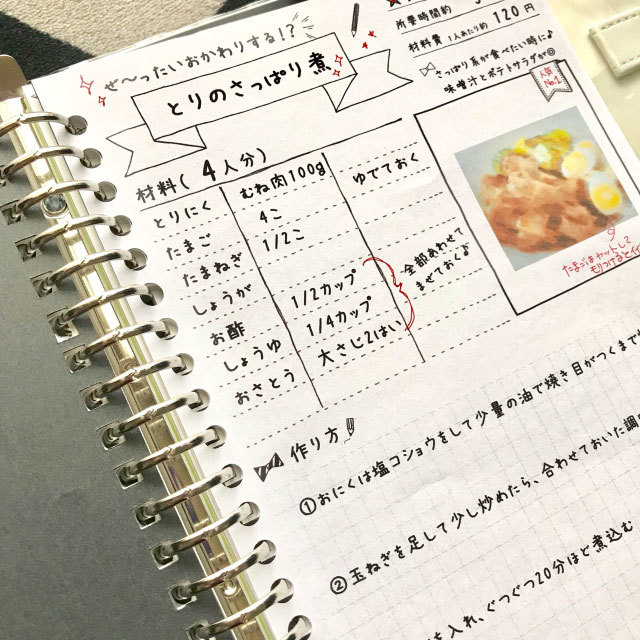 ♡書き込みたくなる♡レシピ(シートタイプ) | ハンドメイド ...