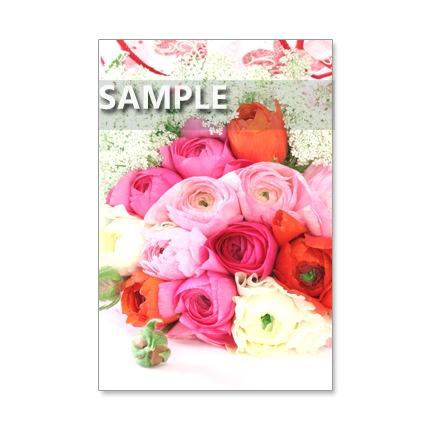123)Postcard 5枚組 お洒落で、カラフルなブーケ!