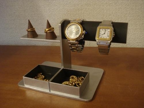 ブラック!腕時計、リング、トレイアクセサリースタンド