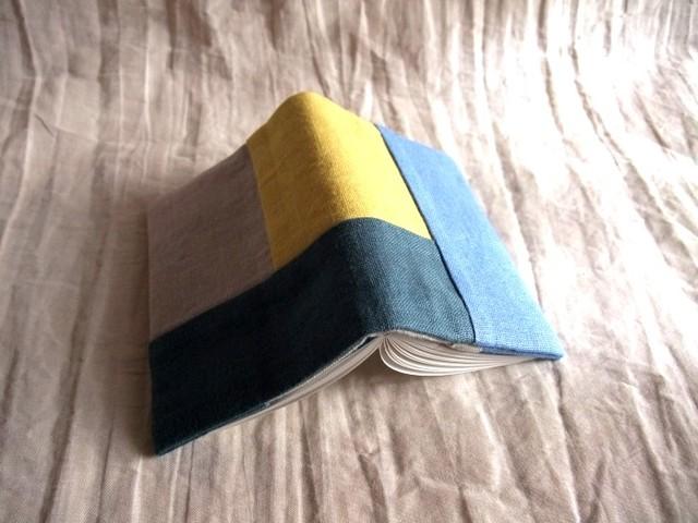 minimini note cover (blue/yellow)