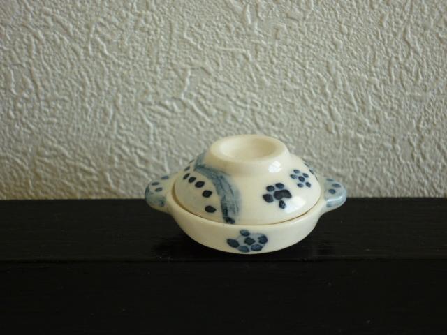ミニチュア☆陶器 土鍋 小花