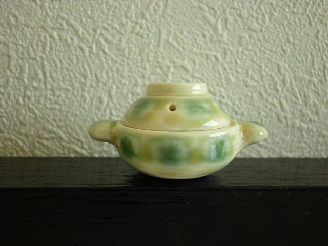 ミニチュア☆陶器 土鍋 黄瀬戸
