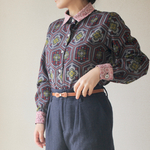 [SALE!!!] レース襟のKasuri casual shirt (no.096)