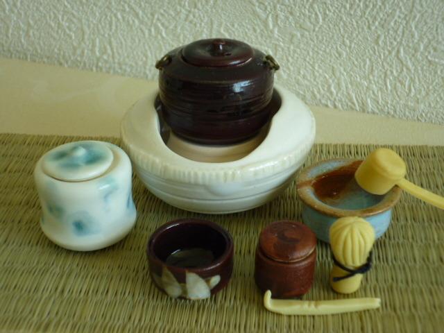 ミニチュア☆陶器 茶道具 白天目風炉