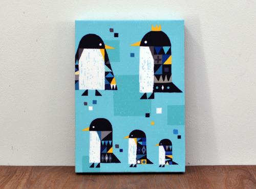 ファブリックパネル「ペンギン」