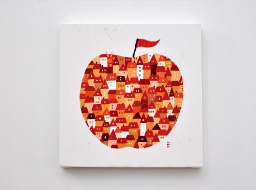 ファブリックパネル「りんご」