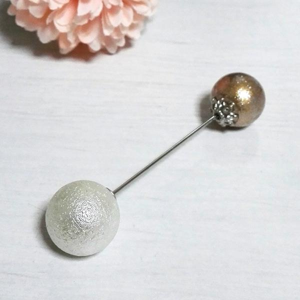 パールのヘアバトン silver type