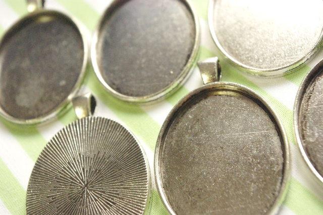 6個入り シルバー調ミール皿セット 内径約31mm C8