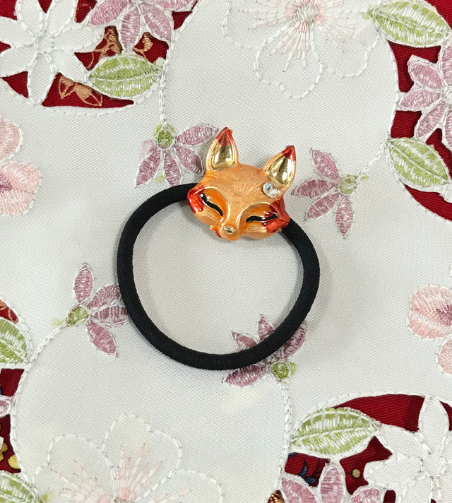 キツネのヘアゴム【クリスタル】