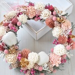 white pink gold wreath  :winter holidays ,2017 no.13