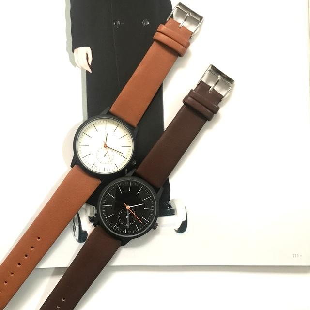 online store cbbc4 94aed レザー シンプル 腕時計 メンズ レディース 兼用 ペアウォッチ