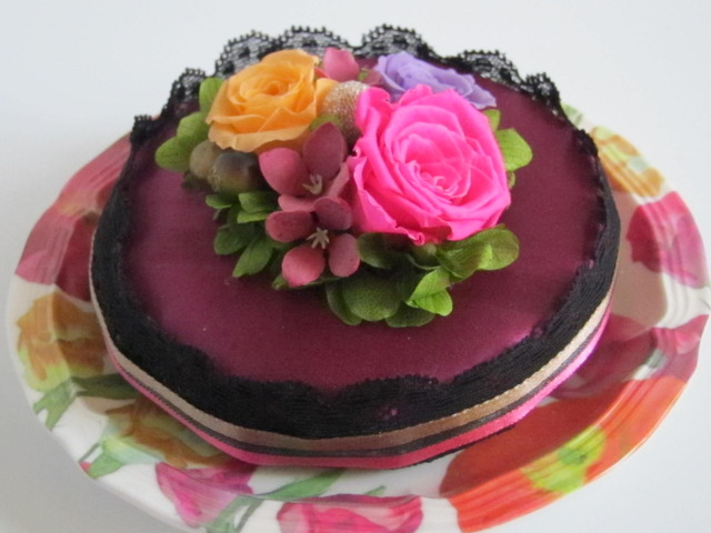 フラワーケーキ 開花