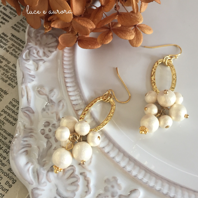 bunch of CottonPearl☆ピアス/イヤリング