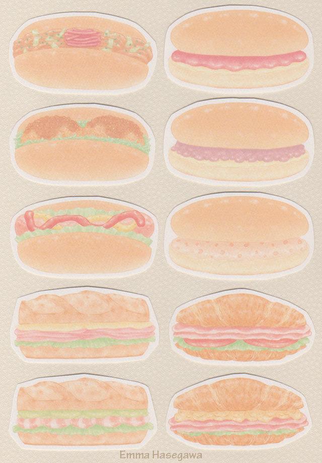 11/12デビュー★調理パンの形のカード