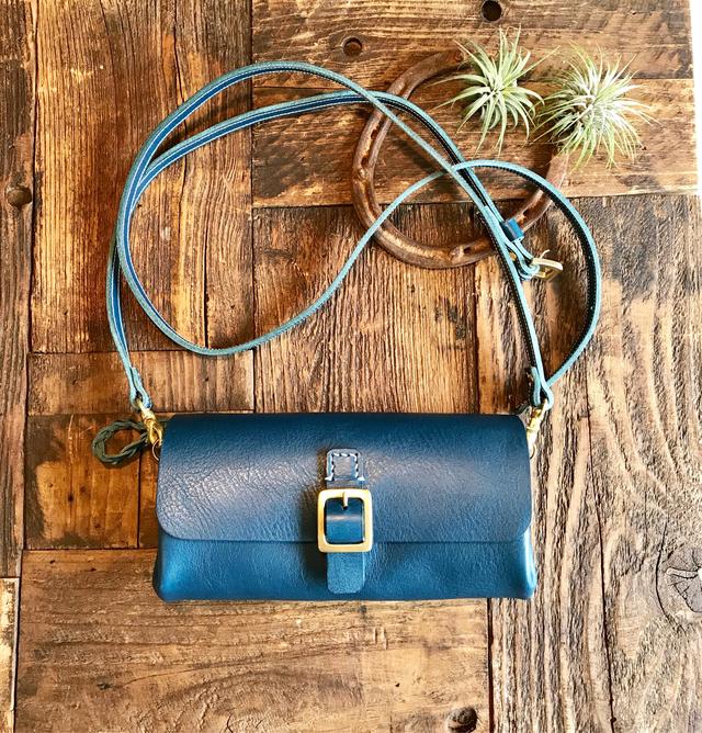 *受注製作*Walletbag (Blue) お財布ポ...