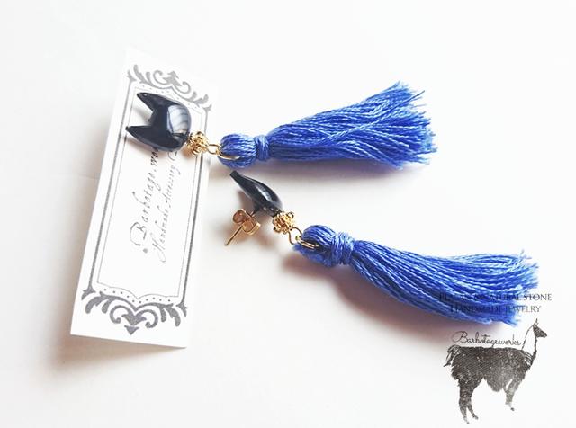 【限定】オトナ黒猫のブルーピアス