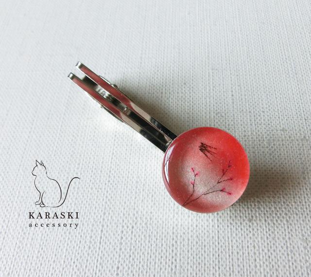 ネクタイピン089/桜とツバメ
