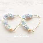 Pastel blue heart pierce