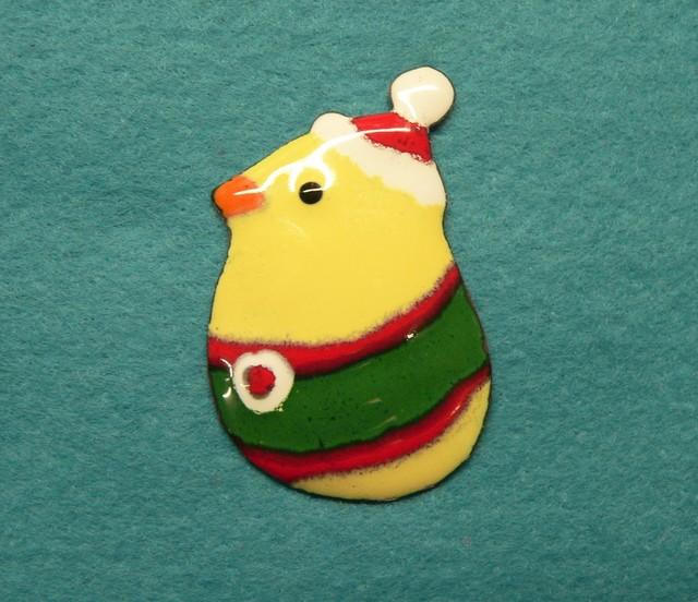 七宝焼・クリスマスのひよこ
