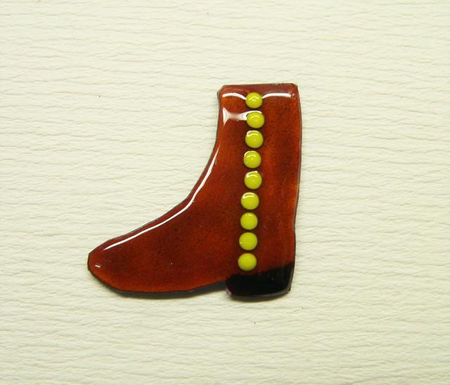 七宝焼・金茶色のブーツ