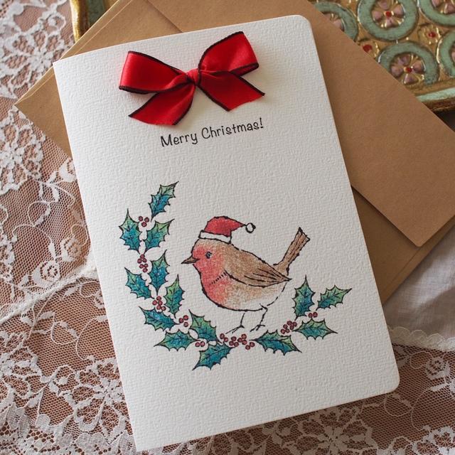 CHRISTMAS CARD -  robin -