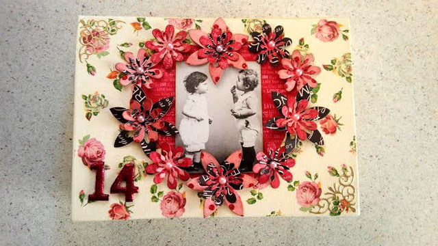 デコナップ+コラージュ バレンタインBOOK型BOX