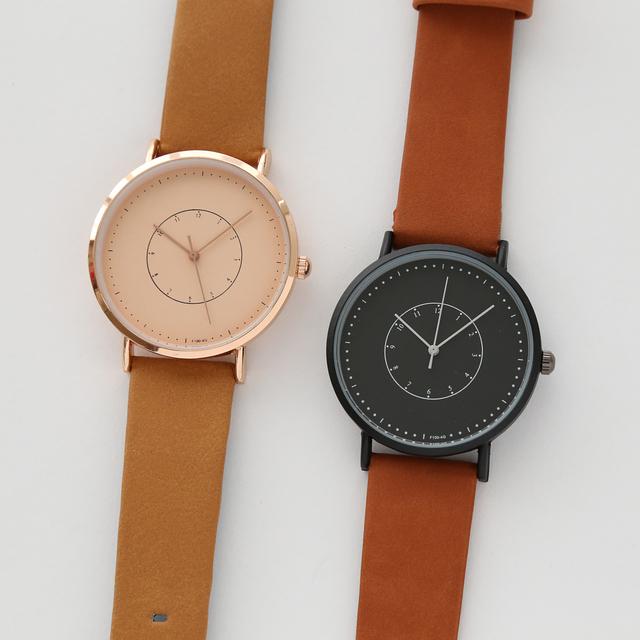info for 047a4 e77ac 【大切人と一緒に】レザー シンプル 腕時計 メンズ レディース 兼用 ペアウォッチ