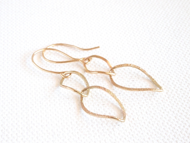 K10 Double Leaf Earrings