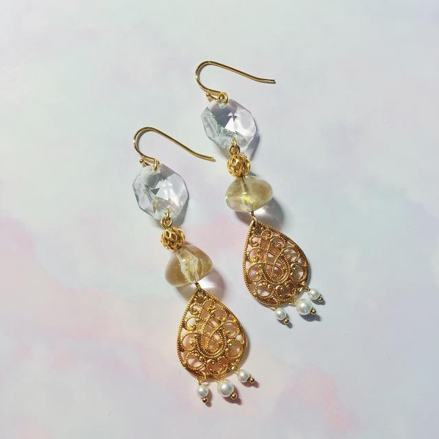 Vintage chandelier earrings minne vintage chandelier earrings mozeypictures Images