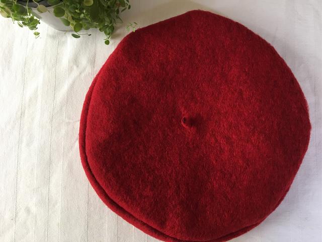 ベレー帽 赤