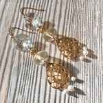再販 Vintage chandelier earrings