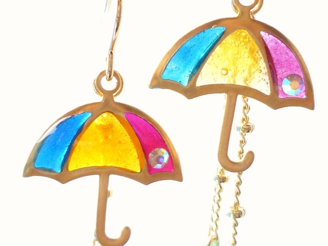 傘ピアス?UMBRELLA Earrings *Rainbow*
