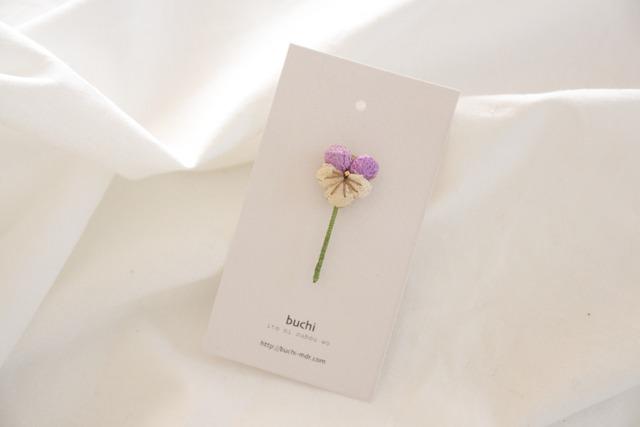 ito hana brooch ( ビオラ/紫)