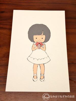 【文字オーダー可】女の子☆ポストカード 2枚