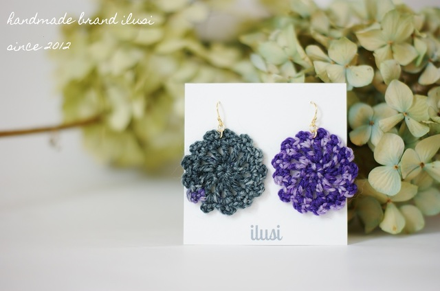 ���ߤ���pierce��flower black��purple