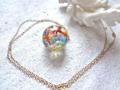 <SOLD> Seascape Necklace R