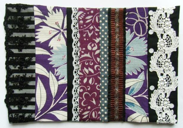 アンティーク着物ブックカバー紫撫子