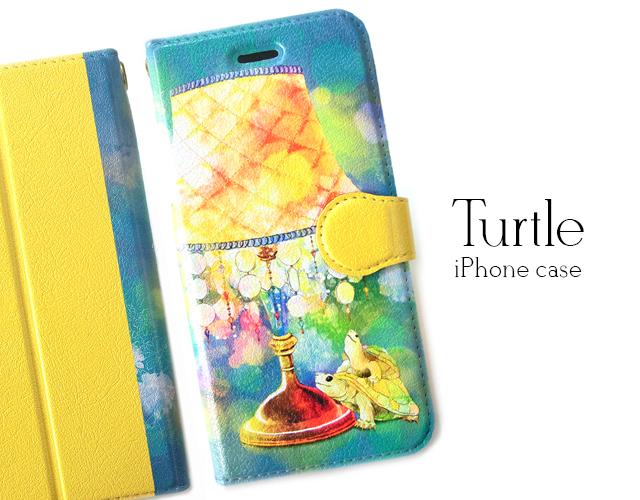 亀のiPhoneケース〈手帳型〉