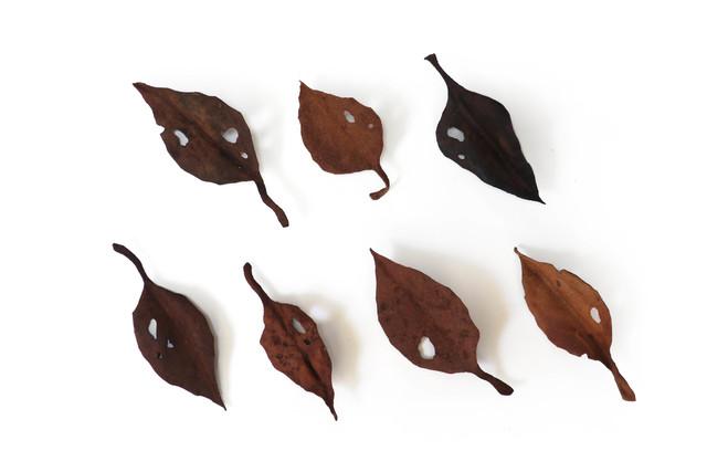 レザーブローチ【fallen leaves】type.13