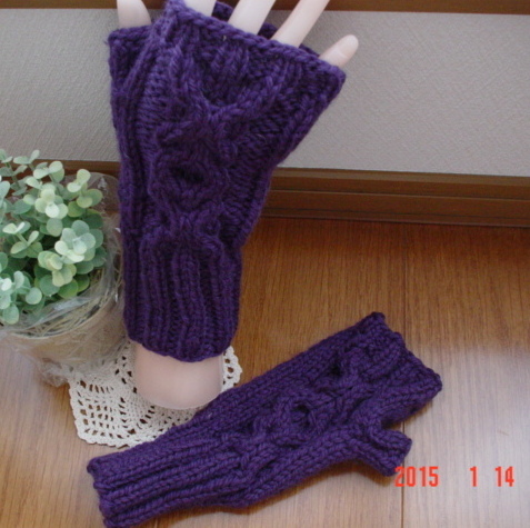 ����ǻ�翧�Υ����֥����ͤ�Fingerless Mittens