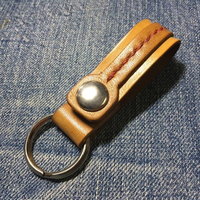 革手縫いキーホルダー