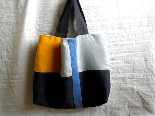 itoiro bag ( blue&yamabuki )