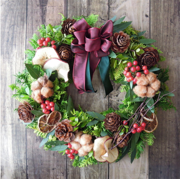 『送料無料』*5 Fresh Xmas Wreath フ...