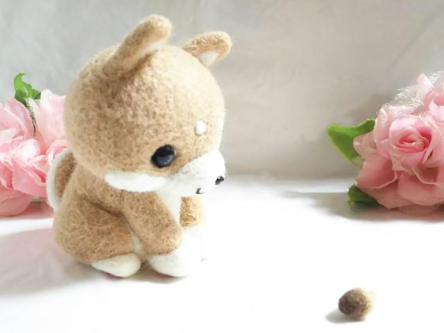 なんだこれぇ??柴犬くん☆羊毛フェルト☆豆柴☆