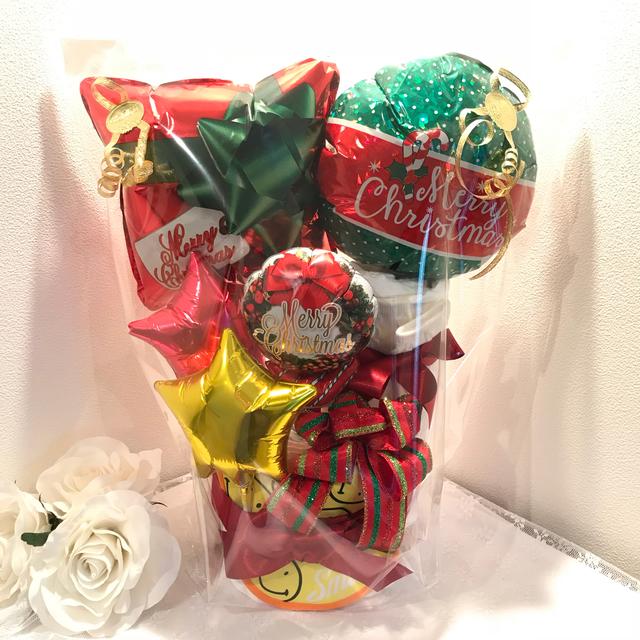 限定一個■クリスマスバルーンおむつケーキ■プレゼント出産祝いスマイルスタイ付き