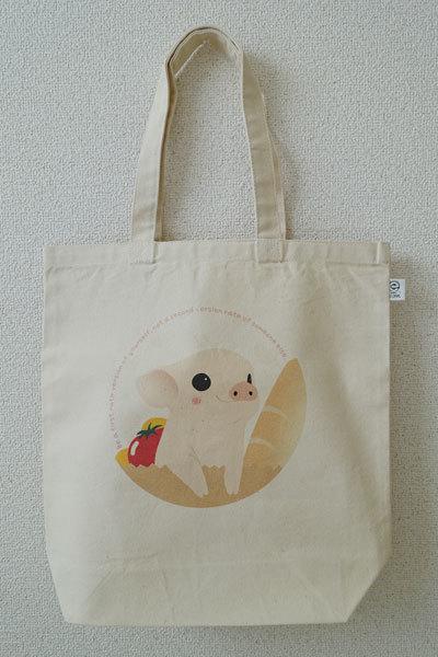 【送料無料】★ミニブタ★トートバッグ