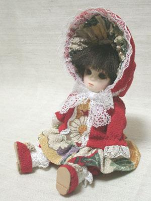 手作り人形 瓜型 赤