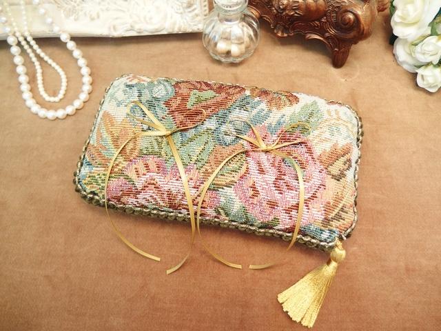 【お値下げ】ゴブラン織りのリングピロー(横長タイプ)